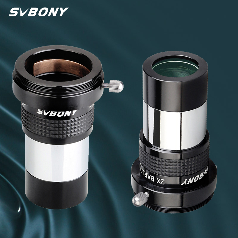 Svbony sv137 omni 2x ocular barlow lente telescópio profissional parte 1.25 polegada totalmente multi-revestido ocular astronômico w9106b