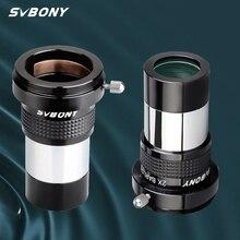 SVBONY SV137 omni 2x oculare Barlow Lens telescopio professionale parte 1.25 pollici oculare astronomico completamente multistrato W9106B