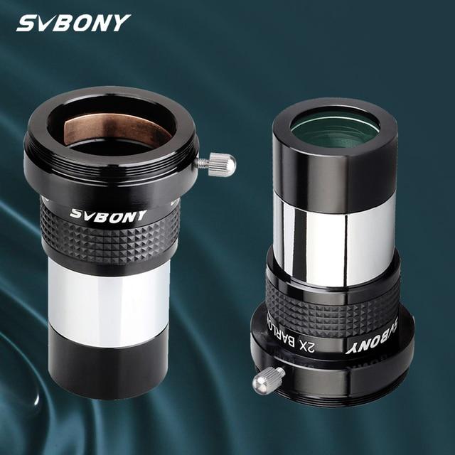 Svbony SV137 Omni 2x Oculair Barlow Lens Professionele Telescoop Deel 1.25 Inch Volledig Multi Coated Astronomische Oculair W9106B