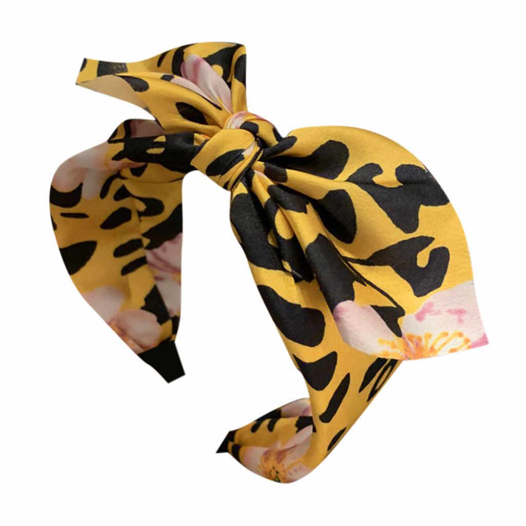 Moda Para Mujer moño nudo diadema leopardo Color Cruz nudo mujeres cabeza aro Simple dulce niñas diadema accesorios para el cabello