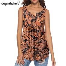 Doginthehole оранжевая Гавайская Бирюзовая тропическая женская