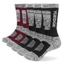 Men's Socks Cotton Terry Cushion Breathable Crew Sports Hiking Socks Thicker Winter Thermal Socks 5 Pairs Lot 38-45 EU