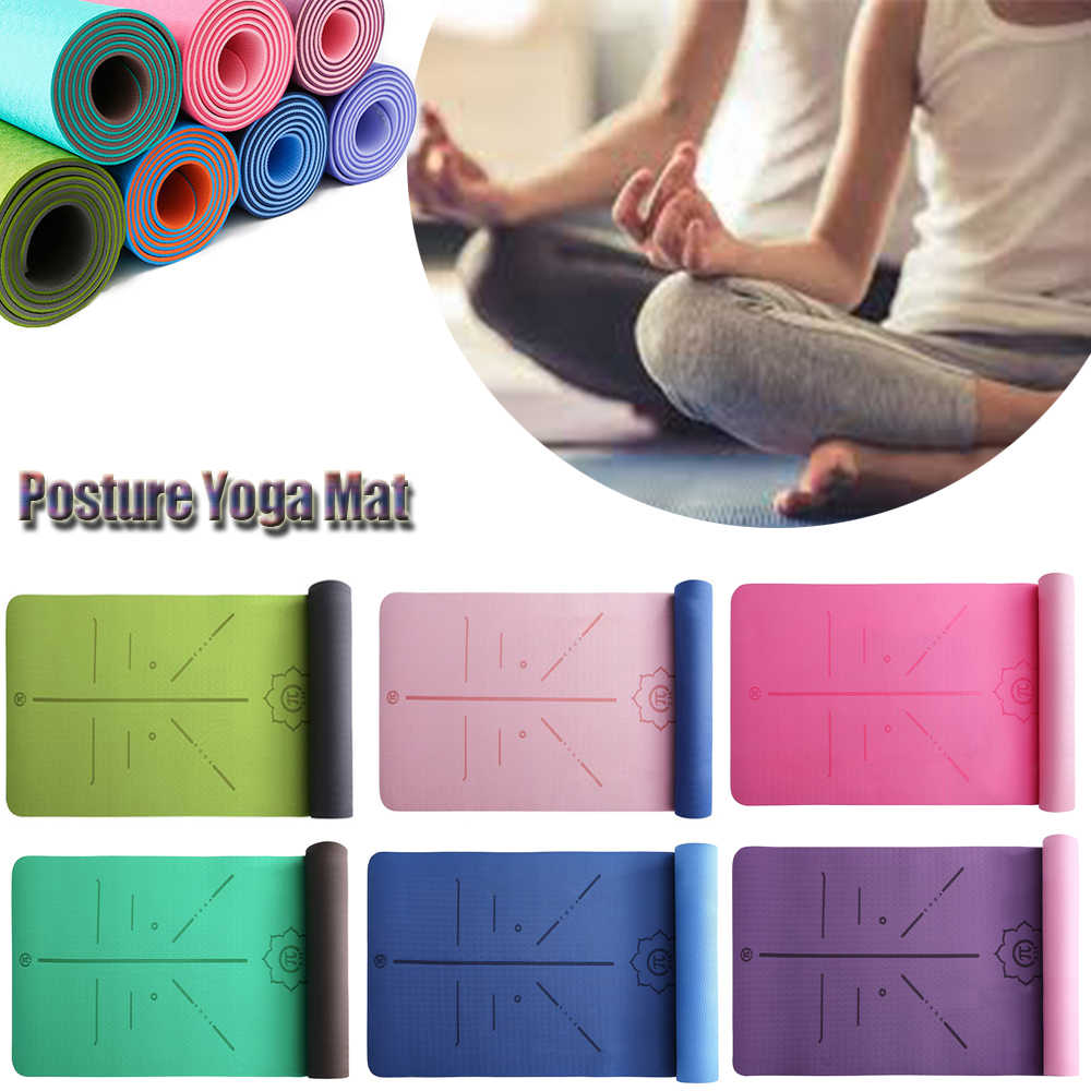 Pilates TPE Double Layer Non-Slip Mat Yoga Exercise Pad For Fitness Gymnastics