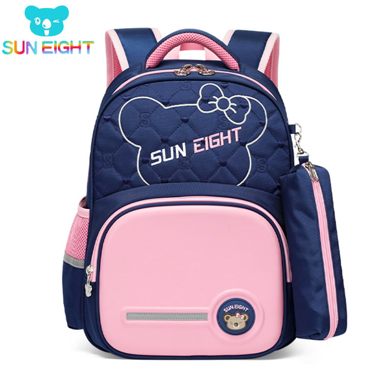 SUN EIGHT New Arrival Children Backpack School Bags For Girls First Class  Waterproof Nylon Christmas Present