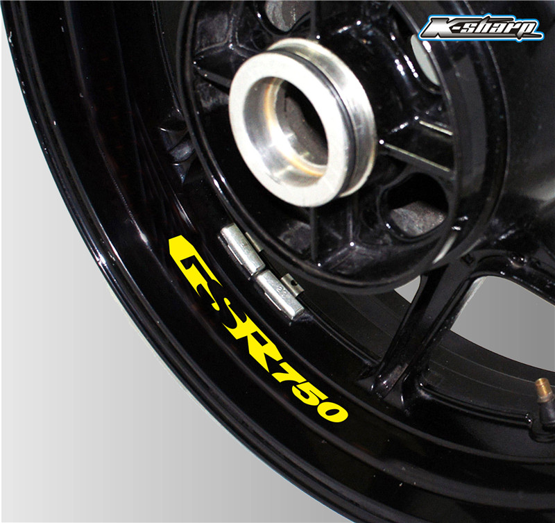 Blue1 PSLER Motorcycle Wheel Rim Decals Wheel Reflective Stickers Stripes for GSR750