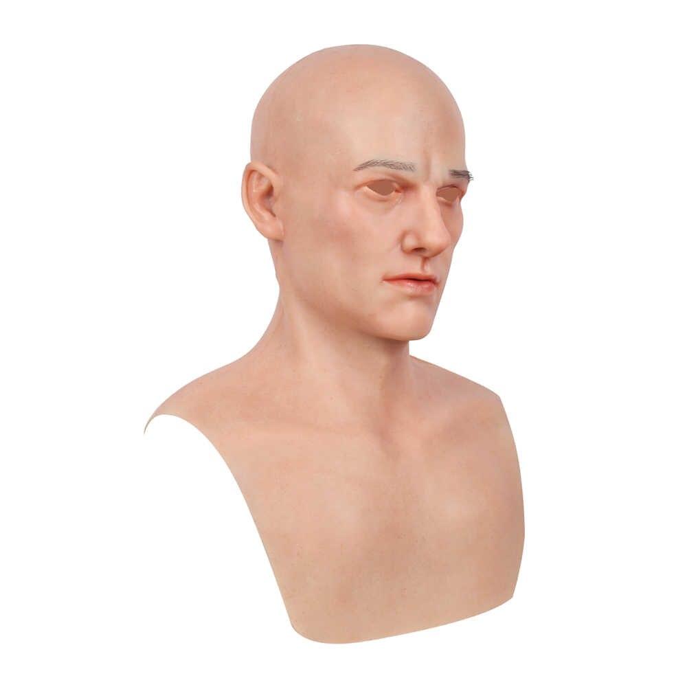 KOOMIHO najnowszy europejski dzwonek do twarzy młodzież realistyczny medyczny silikonowy pokrowiec na główkę maska Handmade Makeup Transgender mask Cosplay