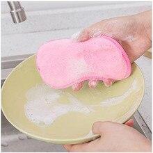Двухстороннее Полотенце Для Очистки Кухни Чистящая губка Чистящая щетка губка для мытья посуды
