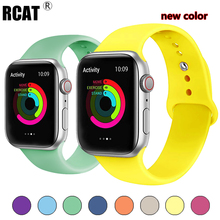 Strap For Apple Watch band 38mm 42mm iWatch 4 band 44mm 40mm Sport Silicone belt Bracelet correa Apple watch 4 3 2 1 Accessories strap for apple watch band apple watch 4 3 2 iwatch band 42mm 44mm 38mm 40mm correa bracelet silicone watchband belt accessories