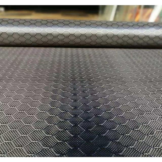 """Tissu en Fiber de carbone véritable, motif de Football, 3K 240gsm, 32 """" / 82cm de large, tissu Hexagonal en nid dabeille, livraison gratuite"""