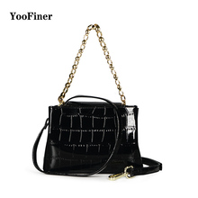 2019 hot selling new brand YooFiner female shoulder bag fashion stone pattern chain handbag wild magnetic buckle PU leather
