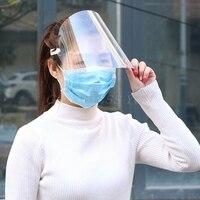 Ochronna regulowana antyślina odporna na kurz pełna maska do osłony twarzy osłona przeciwsłoneczna w Kask ochronny od Bezpieczeństwo i ochrona na
