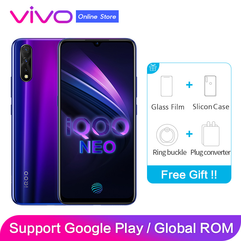 "Vivo iqoo Neo Global ROM 3 Cameras 2340x1080P 6.38"" Screen 2 SIM Card Fingerprint Face ID Snapdragon 845 Octa Core Smartphone"