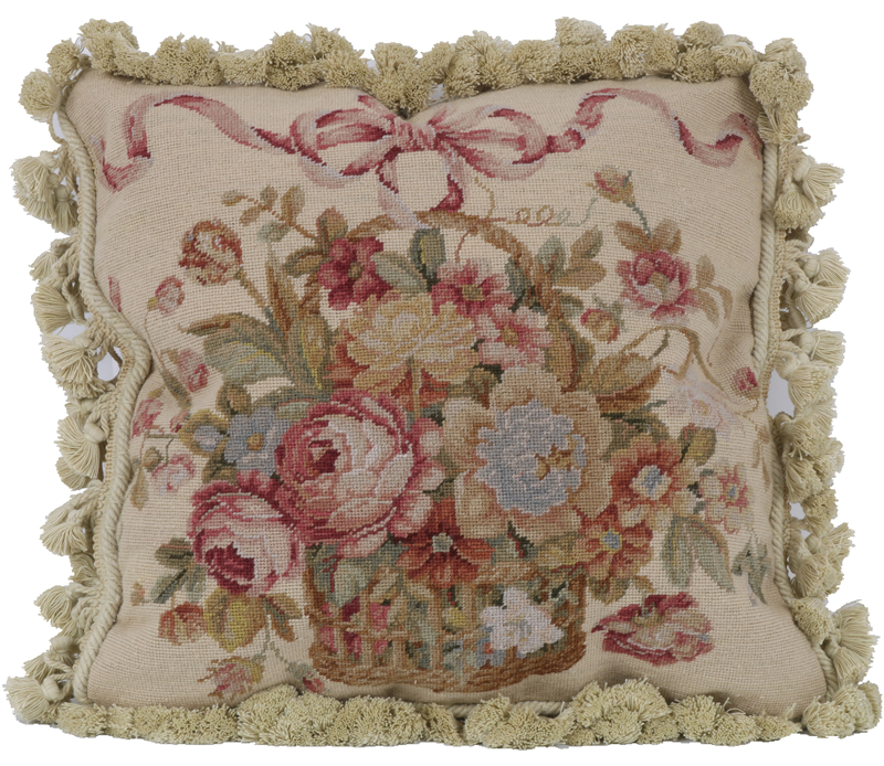Coussin de broderie ruban pour voiture nouvelle laine woolenen aiguille noël Aubussion housse de coussin carré