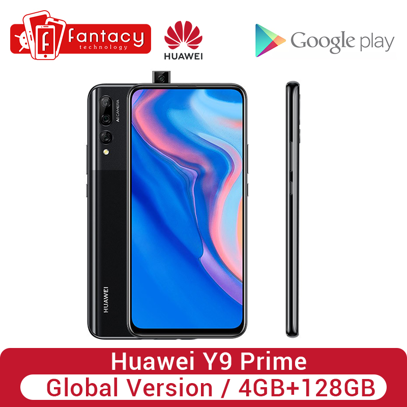 Global Version <font><b>Huawei</b></font> Y9 Prime 4GB 128GB <font><b>Smartphone</b></font> AI Triple Rear Cameras Auto Pop-Up Front Camera Cellphone image