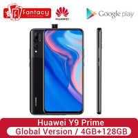 Version mondiale Huawei Y9 Prime 4GB 128GB Smartphone AI Triple arrière caméras Auto Pop-Up caméra avant téléphone portable