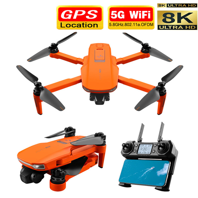 Smart Pro GPS Drone with Wifi FPV 8K HD Camera Two-axis anti-shake Self-stabilizing Gimbal Brushless Quadcopter Fly 1 2KM