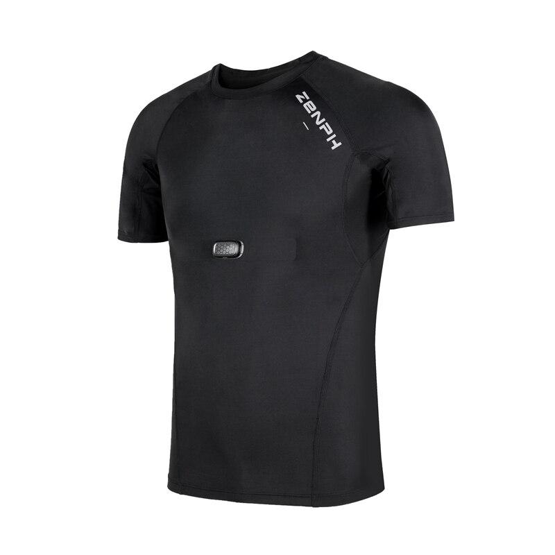 Zenph умная спортивная одежда, летняя футболка для фитнеса и бега, высокая эластичность, быстросохнущая, мониторинг в реальном времени, смарт ... - 6