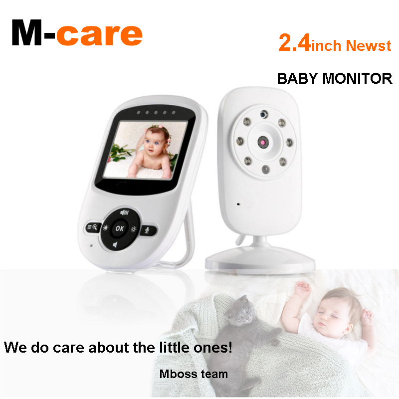 Wireless Video Baby Monitor with 2 Digital Cameras, LCD Display, Infrared Night Vision, 2 Way Talk, Room Temperature, Lullabies