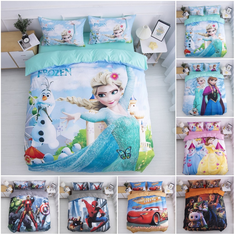 Disney Frozen Queen Elsa Anna Princess Frozen 2 Bedding Set Duvet Cover Pillowcase For Baby Children Bed Birthday Gift 2020
