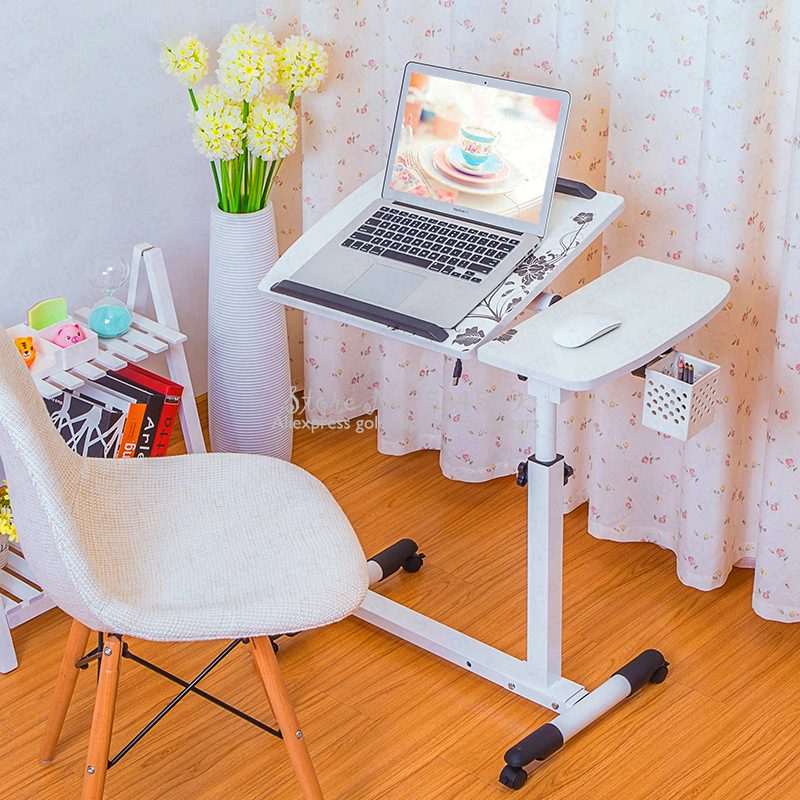 5%Foldable Computer Desk Bed Learning Household Computer Table Laptop Desk For Home Office Use Folding Mobile Bedside Table