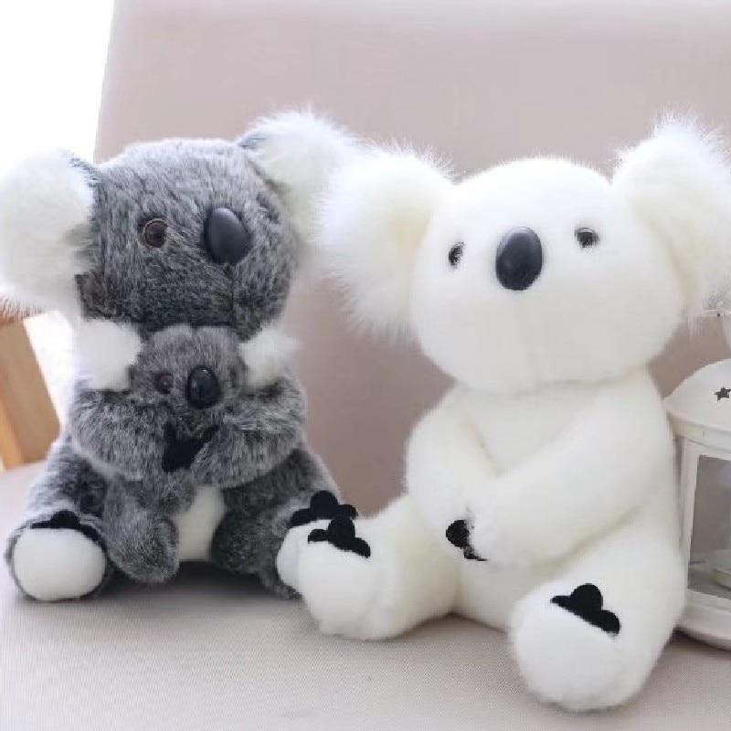 13cm 17cm 21cm 28cm Australia Animal Koala Stuffed Koala Bear Soft Mom Hold High Quality Plush Doll Kid Toy Xmas Gift