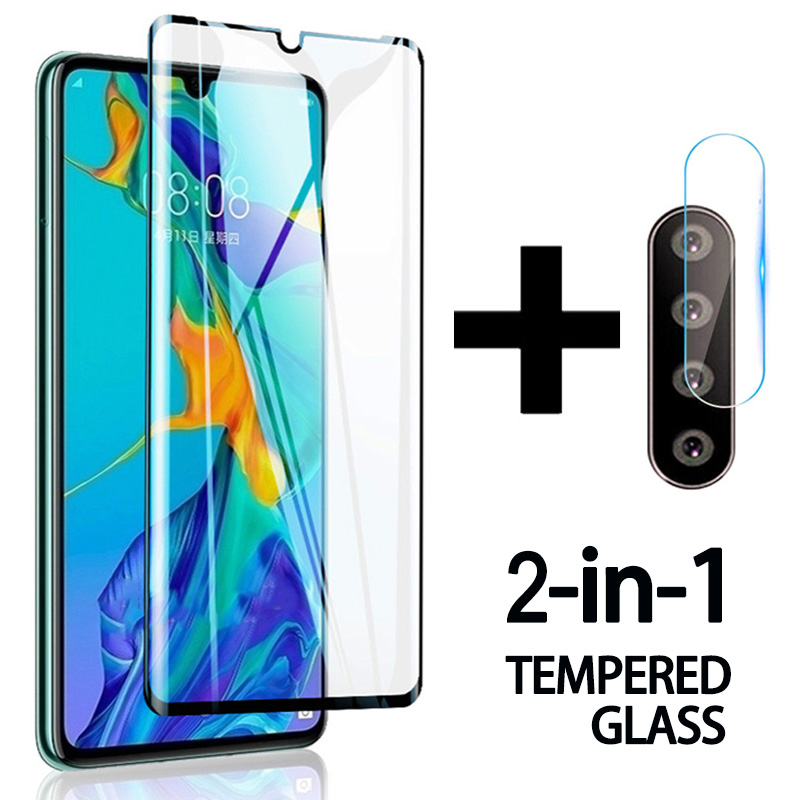 2 in 1 Tempered <font><b>Glass</b></font> on For <font><b>Huawei</b></font> P30 Lite Protective <font><b>Glass</b></font> Screen Protector Camera Len Film For <font><b>Huawei</b></font> <font><b>P20</b></font> Lite P 20 30 <font><b>light</b></font> image