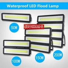 LED Flood Light IP67 Fixtures 50W 100W 150W 200W Waterproof Landscape Wall Outdoor Housing Lighting Advertising Spotlight