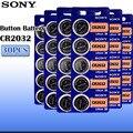 30 шт./лот sony CR2032 3 в 100% оригинальная литиевая батарея для часов, пультов дистанционного управления, калькулятор, CR2032, батарейки для монет