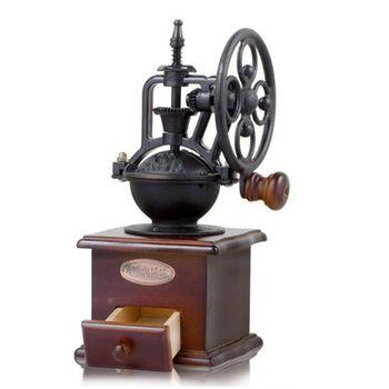 Ręcznie wstrząsnąć młynki do kawy fasoli Vintage duże koło instrukcja ekspres do kawy żeliwo tanie i dobre opinie HNGCHOIGE CN (pochodzenie) Q22C7HH202854 e Coffee Bean Grinders Nylon gear manual
