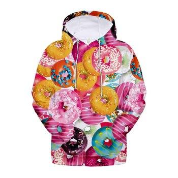 Doughnut Food 3D Sweatshirt Hoodies Men And Women Streetwear Hoodies Oversized Hoodie Plus Size 4XL Merchandise Fashion Clothing billie eilish hoodies women casual oversized sweatshirt pullover hip hop streetwear tracksuit fashion clothing top plus size