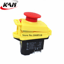 Kedu KJD17 GF Start Stop Schalter NVR (2HP / 16A)& wasserdichte Magnet Notfall Stop 4 Pin Keine Volt Release Taster Schalter