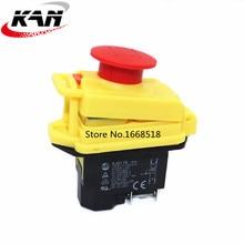 Kedu KJD17 GF Start Stop Switch NVR (2HP / 16A)&Waterproof Magnetic Emergency Stop 4 Pin No Volt Release Pushbutton Switch