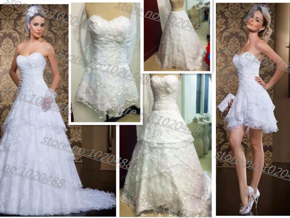 Actual Lmages Vestido De Noiva Special Two In One Lace 2018 Hot Sale Bridal Gown Removable Skirt Mother Of The Bride Dresses