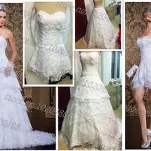 actual lmages vestido de noiva special Two In One lace 2018 hot sale bridal gown removable skirt