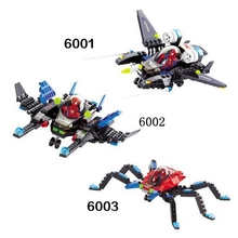 DIY 6001 6002 6003 Super Hero Spider-Man Series Aircraft Set Building Blocks Childrens Educational Toys Holiday Gifts