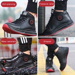 Image 4 - Work Shoes With Steel Toe Safety Martin Boots Industrial Men Office Boots Indestructible Anti Smashing Puncture Proof Protective