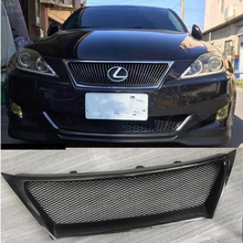 For Lexus IS250 IS350 2007 2008 2009 2010 2011 2012 F Sport carbon fiber Grill Front Grille fit for 06 08 lexus is250 is350 ds poly urethane black front bumper lip spoiler