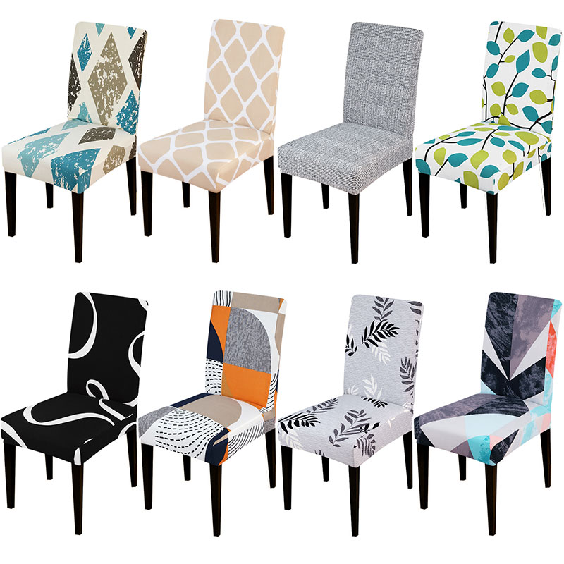 Universal Size Chair Cover Elastic Chair Covers Stretch Seat Slipcover Removable Washable For Banquet Home Hotel Dining
