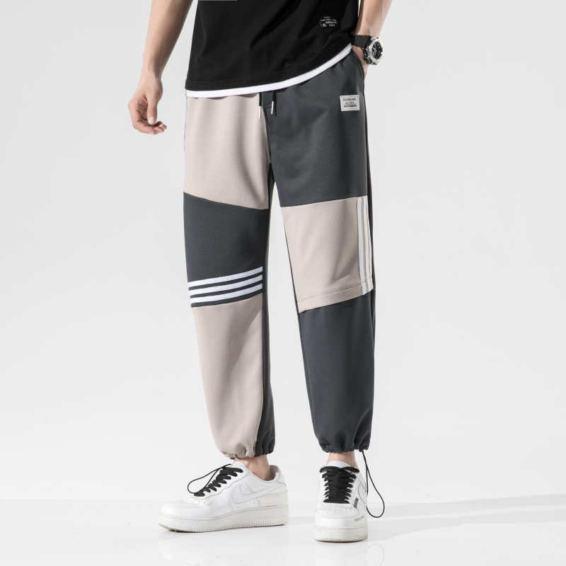 Брюки мужские свободного покроя, повседневные мешковатые шаровары с эластичным поясом, спортивные штаны для бега, весна-лето 2021