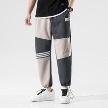 2021 novo casual calças soltas dos homens harém baggy cintura elástica calças primavera verão sweatpants jogging masculino