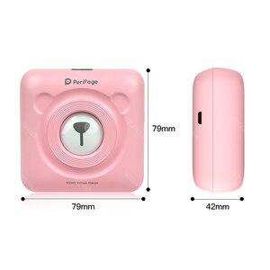 Image 2 - PeriPage Drukarka termiczna kieszonkowa 58 mm, miniaturowa, mini, przenośna, papier do drukowania, bezprzewodowe drukowanie, Bluetooth, Android, iOS