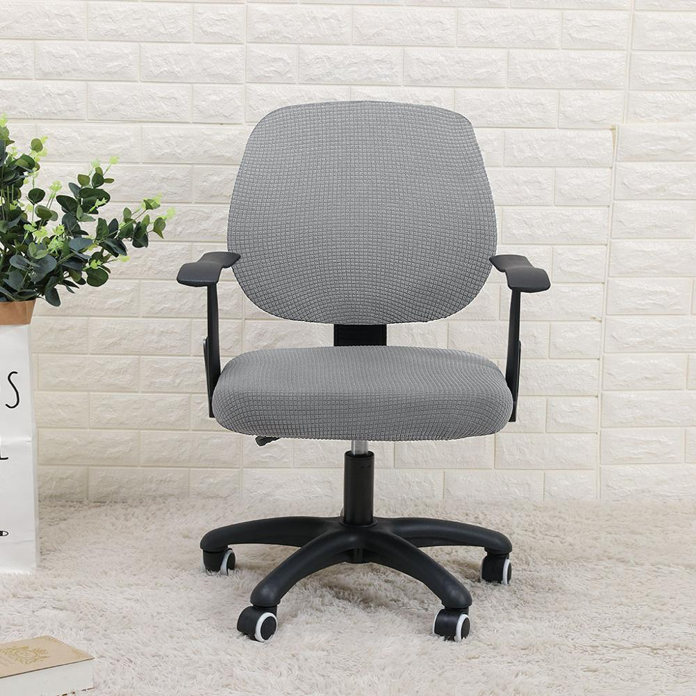 Cover For Office Chair Water Resistant Jacquard Computer Game Chair Slipcover Elastic Cover For Cadeiras De