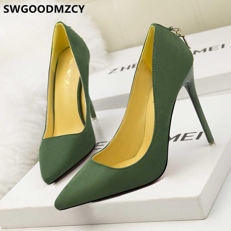 Scarpe da donna Stiletto di lusso tacchi alti Sexy scarpe eleganti donna tacchi alti estremi pompe nere scarpe da sera tacchi alti Fetish