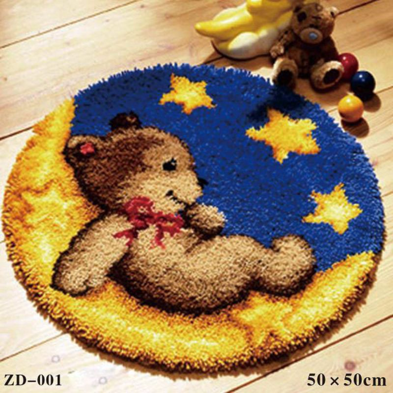 Yarn Segment Embroidered Seat Cushion Carpet Embroidered Mat Thick Wool Handmade DIY Embroidery New/
