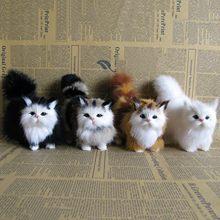 12*12cm simulação gato brinquedos de pelúcia simulação modelos animais presentes das crianças brinquedo para os amantes do animal de estimação luxo macio e confortável