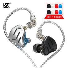 سماعات أذن KZ ZAX 7BA + 1DD 16 وحدة هجينة HIFI شاشة معدنية داخل الأذن, سماعات أذن Dj للموسيقى KZ ZSX AS16 CA16 BA8 VX C12