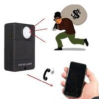 Mini sem fio movimento gsm monitor de detecção alerta sensor infravermelho pir mp alarme im