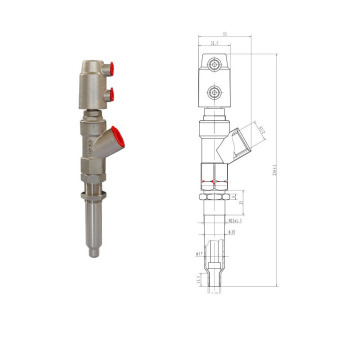 All Stainless Steel New Pneumatic Filling Valve for DN15-27 (20mm to 13mm) Mask Machine