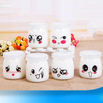10 sztuk żaroodporne przeźroczysta szklana butelka gospodarstwa domowego picia kubek do mleka z pokrywką kubek galaretki mus kubek budyń jogurt Jar 150ml tanie i dobre opinie CN (pochodzenie) 6-10 Szkło Yogurt Jar