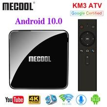 MECOOL KM3 ATV Google Certified TV Box Android 10 TV Box 4GB 64GB Amlogic S905X2 9.0 KM9 Pro 4GB 32GB Androidtv 4K Dual Wifi Box